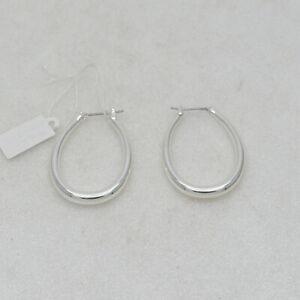 premier designs jewelry high polished silver plated hoops drop dangel earrings