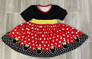 Disney inspired Minnie Mouse Girls Toddler Dress 4T