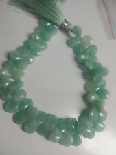 """AMAZONITE  PEAR BRIOLETTE FACETED 7X9,8X10 MM,8"""" LOOSE GEMSTONE BEADS"""