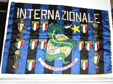 INTER - INTERNAZIONALE 70s italy football flag - bandiera scudetti CAMPIONISSIMI