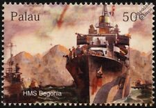 WWII HMS BEGONIA (K66) Royal Navy Flower-Class Corvette D-Day Warship Stamp