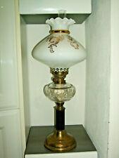 Große Petroleumlampe mit Glasschirm Lampe 60 cm hoch Tischlampe