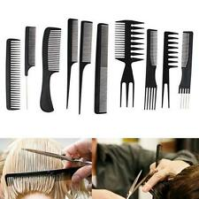 10x Beauty Salon Hair Styling Hairdressing Plastic Barbers Brush Combs LG