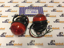 Land Rover Defender (to 94) Pair of Rear Stop Brake Light Lamps - WIPAC OEM