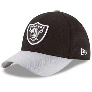 Las Vegas Raiders New Era 39Thirty Sideline M/L Flexfit Fitted Cap Hat Oakland
