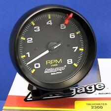 """Auto Meter Autogage 2300 Tachometer Tach 8000 RPM Black Pedestal Mount 3 3/4"""""""