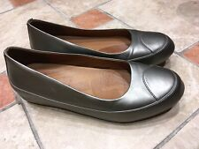 Fitflop Pewter Leather Pumps Shoes Size 8 (41)