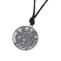 Vintage Supernatural Pentagram Pendant Necklace Silver Charm Dangle Men Jewelry