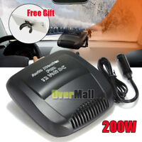 Car Portable 2in1 Ceramic Heating Cooling Fast Heater Fan Defroster Demister 12V