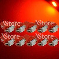 10 LED T5 Lampade B8.5D Per Cruscotto Quadro Strumenti SMD ROSSO Luci 12V