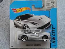 HOT WHEELS 2014 # 031/250 Ferrari F12 Berlinetta ARGENTO HW città