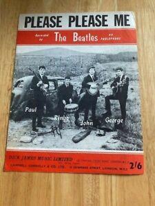 "Beatles Original UK Sheet Music "" Please Please Me""   Rare Sheet"