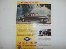 Riley Pathfinder.or Vauxhall Cresta.1955 original colour advert