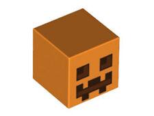 LEGO - Minifig, Head Modified, Minecraft Pumpkin Jack O' Lantern - Orange