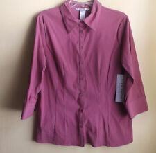 FRED DAVID Ladies Shirt (Blouse) / Size Petite Large / NWT