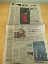 The Wall Street Journal Newspaper -  Tiger Woods - (4/15/19)