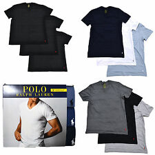 Polo Ralph Lauren Mens 3 Pack V Neck Undershirts Pony Logo Tshirts Tee New