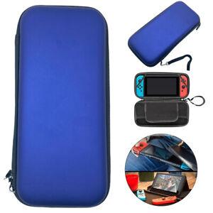 Blue Slim Armor EVA Hard Travel Case Cover Carrying Tough For Nintendo Switch