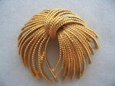 Monet Fireworks Gold Color Brooch Pin