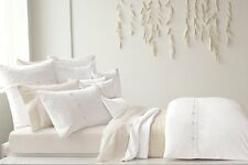 New Pure Dkny Pure Comfort Organic King Pillow Sham- Cloud - White with Buttons