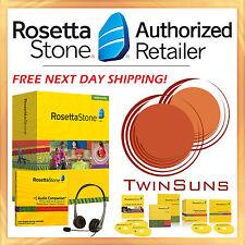NEW Rosetta Stone® RUSSIAN 1 2 & 3 Full Homeschool Set +Audio Companion +Headset
