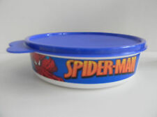 Tupperware Spiderman Big Wonders 2 Cup Snack Bowl & Liquid Tight Blue Seal New