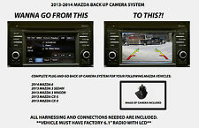 2013 3 WAGON Mazda Back Up Camera System Rear View Camera Kit INCLUDING HARNESS