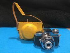 VINTAGE CRYSTAR MINI SPY CAMERA WMADE N JAPAN W/YELLOW LEATHER CASE 1950'S