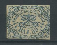 STATO PONTIFICIO 1852 50 BAJ *  CERT.