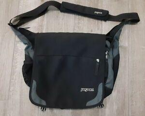 Jansport TM20 Padded Shoulder Laptop Messenger Bag Crossbody Bag Black & Blue