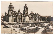 Vintage Postcard Photo Panaroma view of Mexico Cathedral Zocalo Gevaey Photo