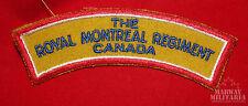 The Royal Montreal Regiment Cloth Shoulder Flash (inv9033)