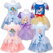 Bambini Disney Principesse Ballerine Costume Manica Corta Maglietta da Skater