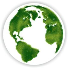 Earth Planet Eco Ecological Greenpeace Think Green Sticker bumper Aufkleber