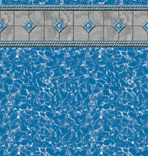 # Swimming Pool Blue Tile 3 Sheets 1/12 Scale,Vinyl Paper Self Adhesive #266W