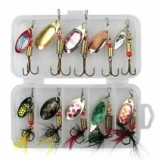Fishing Lure Set Metal Spinner Spoon Hard Baits Artificial Pesca Tackle With Box