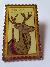 Carousel Deer Reindeer Postage Stamp 25-cent 1988 Pin USPS #2390 Postage NEW