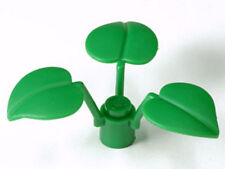 LEGO - Plant Flower Stem 1 x 1 x 2/3 with 3 Large Leaves (New on Sprue)