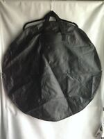 """33"""" Flat Round Black Lightweight Vinyl Tote Bag Handles New Without Packaging"""