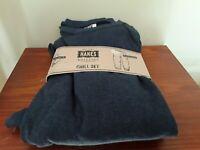 Mens pajamas 2 piece size small crewneck, drawstring brand Hanes NWT color navy