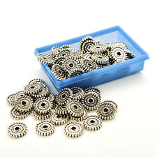 Bulk 100pcs Tibet Silver Beads Loose Spacer Craft Jewelry Finding Charms Pop BDA