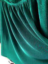 NEW! J.O.A. Just One Answer Designer Emerald Green Wide Neck Flare Blouse XS $85