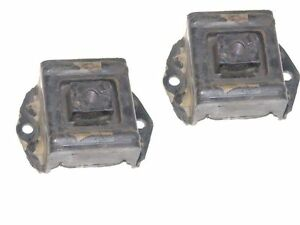 2 Rear Motor Mounts 1954 1955 1956 Nash Statesman w/ Standard or Overdrive Trans
