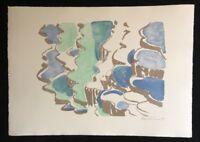 Silke Leverkühne, Wasserlandschaft, Farblithographie, 1994, handsigniert und dat