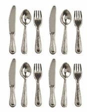Dollhouse Miniature 1:12 Set of Silver Silverware for Four