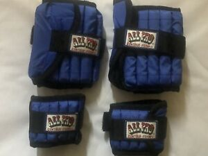 All Pro Contour Foam Ankle Weights Pair of 5lb  Each And Pair Of 2lb EachWrist