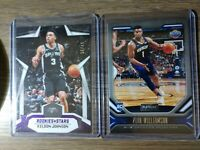 2019 Zion Williamson Playbook RC & Keldon Johnson Rookies & Stars Purple /49