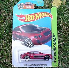 Red BENTLEY Continental Supersport 2015 HW Workshop CFH45 New in SEALED Package!