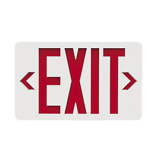 Halco 95001 Led Exit Sign Red Letters And Chevrons 120277v Nicad Battery