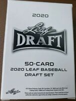 2020 Leaf Draft 50 Card Complete Baseball Set Acuna-Dominguez-Franco-Torkelson
